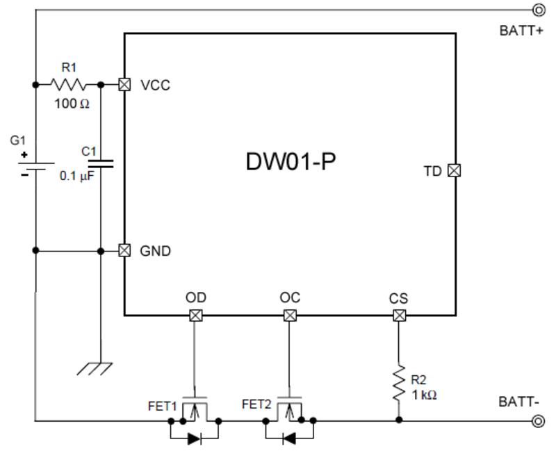 Схема контроллера батареи ноутбука