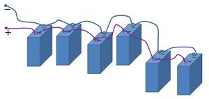 Зарядка при параллельном подключении